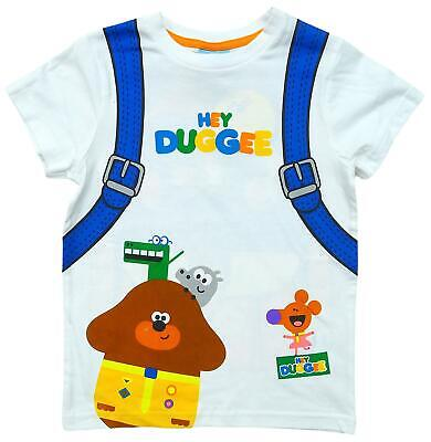 Boys T-Shirt Hey Duggee Backpack Novelty Tee Cotton Top 9 Months To 5 Years • 5.99£