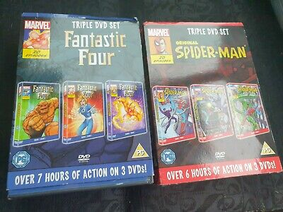Original Spiderman And Fantastic Four Cartoon Dvds Brand New Unopened  • 26£