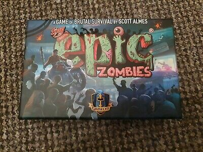 Tiny Epic Zombies - Deluxe Kickstarter Edition With Meeples. • 22£