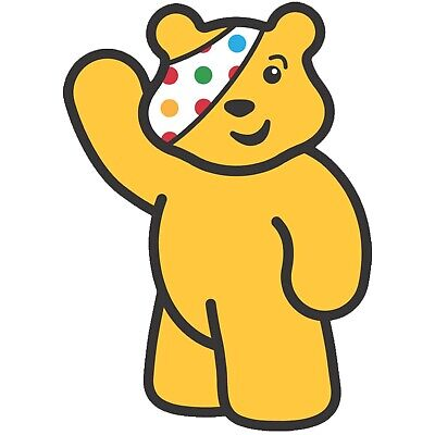 £2.47 • Buy Children In Need Waving Pudsey Bear - Iron On Tshirt Transfers - A6 A5 A4