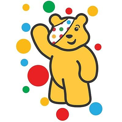 £2.47 • Buy Children In Need Spots Waving Pudsey Bear - Iron On Tshirt Transfers - A6 A5 A4