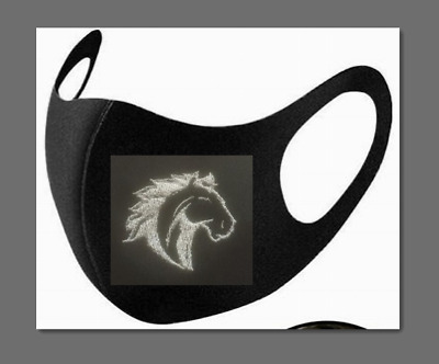 £3.99 • Buy Equestrian Horse's Head Embroidered Face Mask Adults. Washable & Protective
