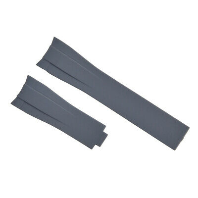 $ CDN31.65 • Buy 21mm Rubber Strap Band For 42mm Rolex Explorer Ii Gmt 216570 Curved End Gray