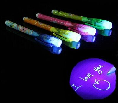 £3.99 • Buy Spy Pen Invisible Ink UV Light Magic Secret Messages Party Kids Gift