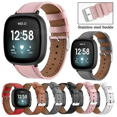 $ CDN8.69 • Buy Replacement Leather Watch Wrist Band Strap For Fitbit Versa 3/Versa Lite/Versa 2