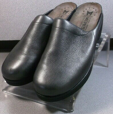 SATTY PEWTER LMMS60 Women's Shoes Size 8 EUR 38 Leather Slip On Heels Mephisto • 57.88£