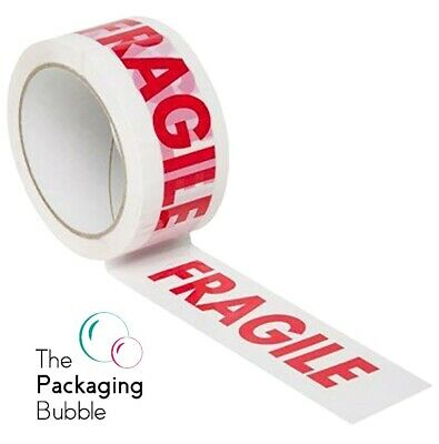 £6.49 • Buy Stikky Tape Fragile Low Noise Packaging Parcel Packing Tape Strong 48mm X 66m