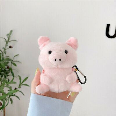 AU15.70 • Buy For Apple Airpods Hooks Cute Cartoon Pink Pig Plush Earphone Case Cartoon Doll