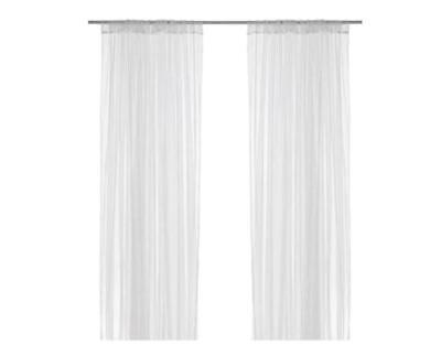 IKEA 4 X Pair Of Long Sheer Floaty White Net Lill Curtains 280 X 250 Cm UK  • 28.99£