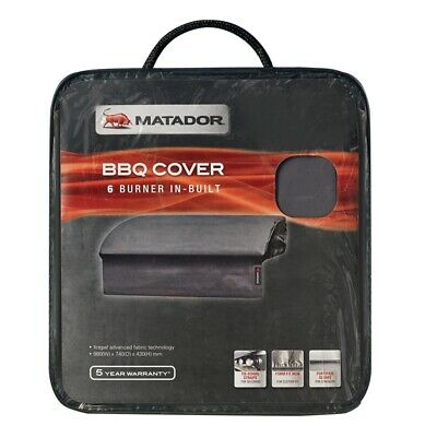AU62.99 • Buy Matador BBQ Cover 6 Burner Built-In Air Ventilation Fortified Seams Fix-N-Free