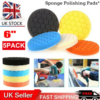 5x 6inch 150mm Car Polishing Pad Hex Logic Type Waxing Spong Rotary Buffering • 7.44£