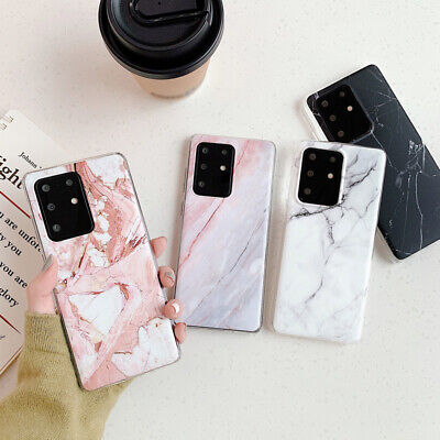 $ CDN4.22 • Buy Soft Glossy Marble For Samsung S20 S10 S8 S9 Plus A51 A71 A40 A70 A50 Phone Case
