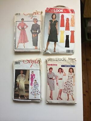 4 Retro 80s Ladies Dressmaking Patterns • 6.99£