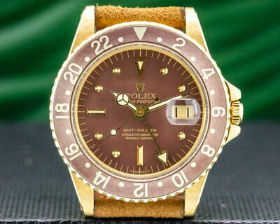 $ CDN35547.03 • Buy Rolex 1675 GMT Master  Radial  Nipple Dial 18k Yellow Gold C. 1973 EXCELLENT
