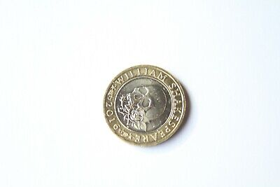 Rare 2016 William Shakespeare TRAGEDIES Skull & Rose £2 Coin With Minting Errors • 5,000£