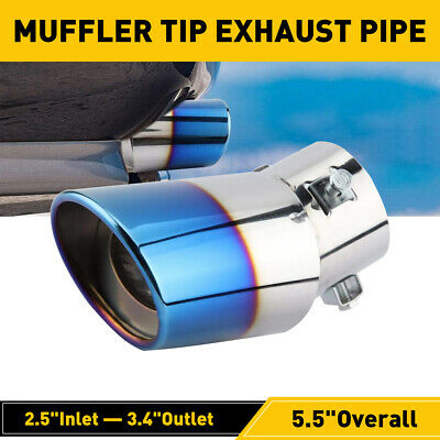 $14.99 • Buy Auto Car Exhaust Pipe Tip Tail Muffler Stainless Steel Replacement Accessories D