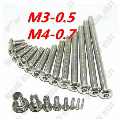 $6.67 • Buy M3 M4 Stainless Steel Hex Socket Button Head Screws Bolts 10/20/25/50/100pcs