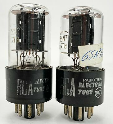 AU57.19 • Buy RCA 6SN7GTB Black Plate Bottom D Getter Copper Rod Balanced And Matched Tubes