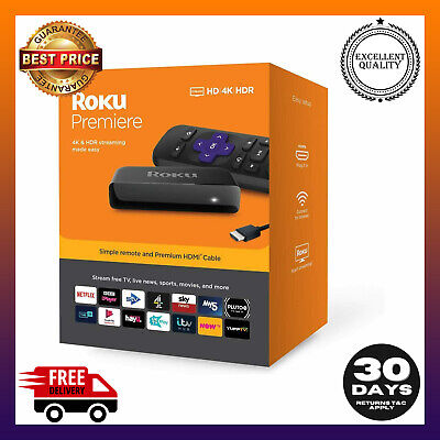 AU99.99 • Buy ROKU Premiere 4K Streaming Stick For Netflix Plex Amazon Prime Video