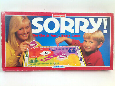 SORRY VINTAGE CLASSIC FAMILY BOARD GAMEby WADDINGTONS 100% COMPLETE IN VGC • 14.99£
