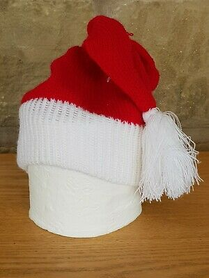 Knitted Toilet Loo Roll Cover Santa's Hat • 4.99£