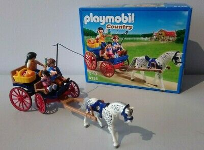 Playmobil Country Set 5226: Horse Drawn Farm Carriage With Family Picnic • 12.99£