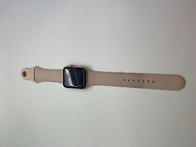$ CDN198.20 • Buy Apple Watch Series 3 LTE Rose Gold With Sport Band GPS Cellular 42MM Works Great