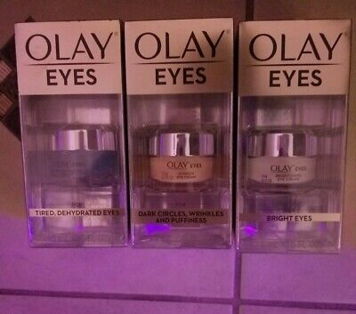 AU50.36 • Buy (3 Count) Olay Eyes Hydrating Bright Eye Cream/Gel For Wrinkles Puffiness Etc.