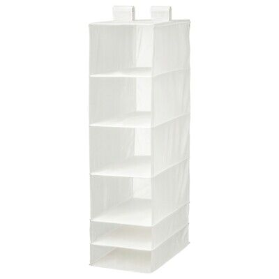 IKEA SKUBB Wardrobe Clothes Storage Organiser With 6 Compartments White • 14.95£