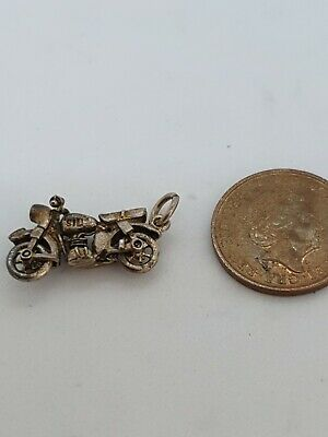 LOT 98 Sterling Silver   MOTOR BIKE  CHARM CHIM • 9.99£