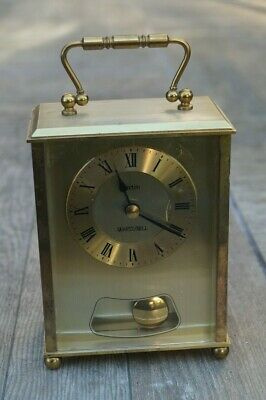 Vintage ACCTIM BELL STRIKE QUARTZ CARRIAGE CLOCK • 8£