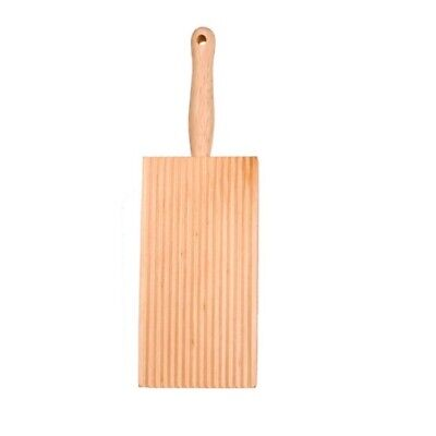 AU9.90 • Buy Gnocchi Board Paddle Pasta Maker Rubberwood Ridged Rolled Authentic Homemade