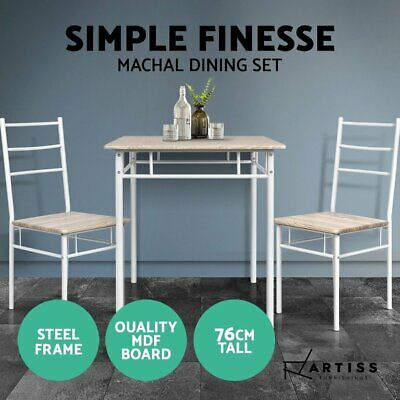 AU94.90 • Buy Artiss Dining Table And Chairs Dining Set Retro Industrial Wooden Desk Metal Oak