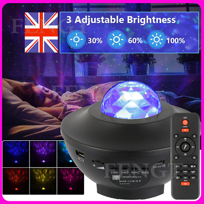 LED Star Projector Galaxy Light Projector Music For Kids Room Home Decoration • 6.99£