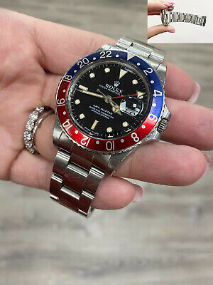 $ CDN17172.25 • Buy VINTAGE Rolex GMT Master 16750 Pepsi Red And Blue Stainless 1984 UNPOLISHED