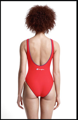 £25 • Buy CHAMPION Bright Red  Reverse Weave  Swimming Costume - Size M - New With Tags