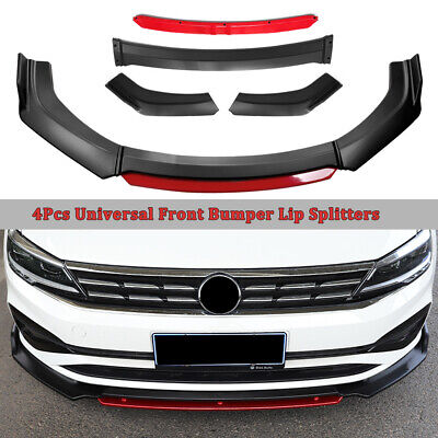 $66.98 • Buy Carbon Fiber Universal Car Front Chin Bumper Lip Spoiler Splitter Scratch Guard