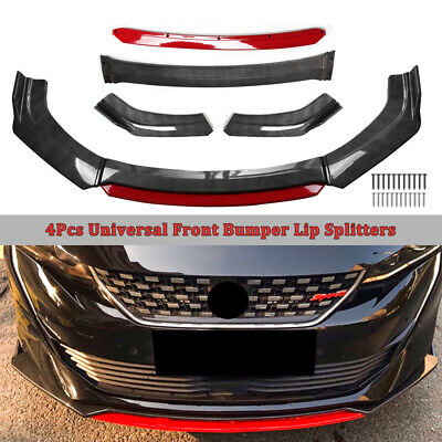 $59.98 • Buy Carbon Fiber Universal Car Front Chin Bumper Lip Spoiler Splitter Scratch Guard