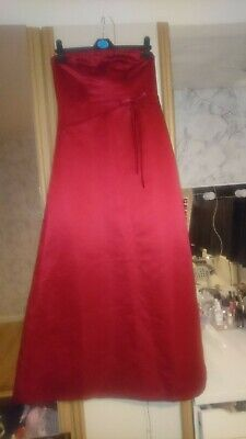 £15 • Buy Teenagers/ladies,prom, Party Dress, Red Satin, Bandeau Aged 16