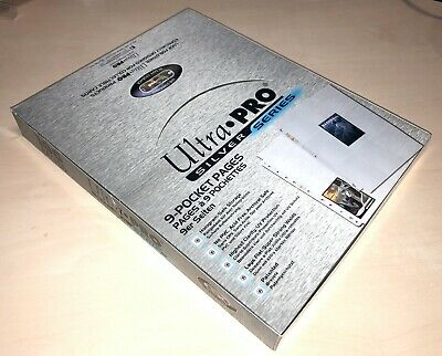 Box Of 100 Ultra Pro Silver Series 9 Pocket A4 Trading Card Sleeves • 19.99£