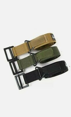 Outdoor Hiking Sports Waistband Army Tactical Military Trouser Buckle Belt NEW! • 0.99£