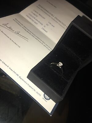 18 Ct White Gold Solitaire 0.24ct Diamond Ring Used • 180£