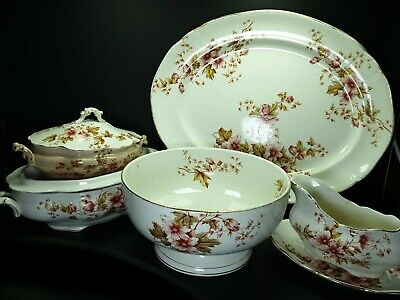 £175 • Buy Lot Of Antique Bovey Tracey Pottery Platters Tureens Bowl