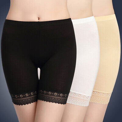 Women Safety Pants Under Skirt Dress Shorts Soft Stretch Lace Trim Leggings Yoga • 5.69£