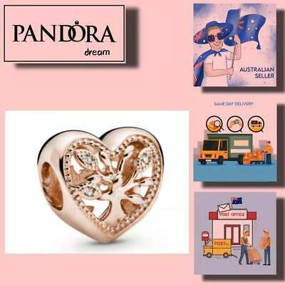 AU46.99 • Buy PANDORA CHARMS Mother's Day Openwork Family Tree Heart Charm Item# 788826C01