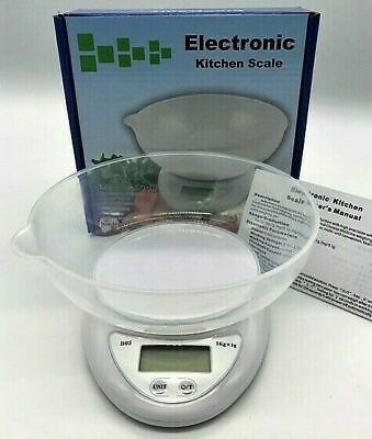 £8.99 • Buy 5kg Digital Kitchen Scales With Food Measuring Bowl Lcd Electronic Screen