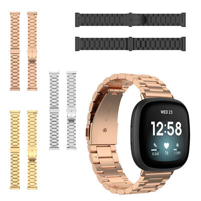 $ CDN16.97 • Buy For Fitbit Versa 3 Band Bracelet Stainless Steel Metal Replacement Watch Straps