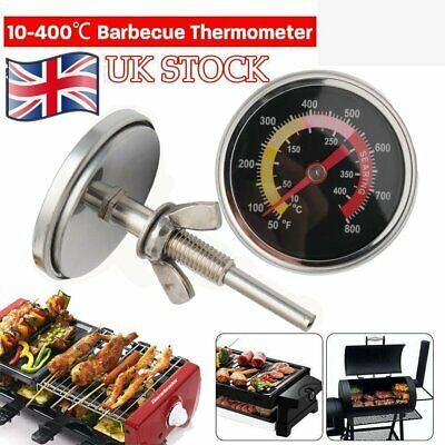 10~400℃ Barbecue Thermometer Oven Pit Temp Gauge BBQ Smoker Grill Temperature UK • 7.48£