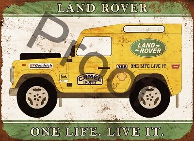 Land Rover #0270 Sign Garage Shed Aluminium Metal New Plaque Vintage 4x4 • 6.95£