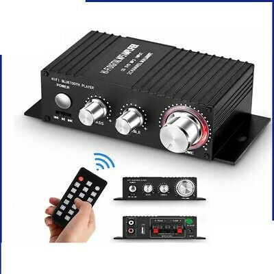 Mini Bluetooth 4.2 Digital Power Amplifier HiFi Stereo Home Audio Amp Lossless • 13.45£